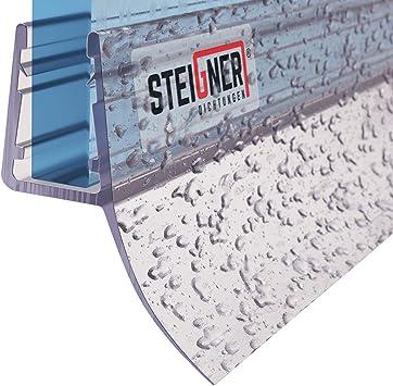 STEIGNER 150 cm Junta Repuesto Para el Vidrio 5mm/6mm/7mm/8mm Junta Vierteaguas de Ducha UK12 Protección Chorros Mamparas Ducha: Amazon.es: Bricolaje y herramientas