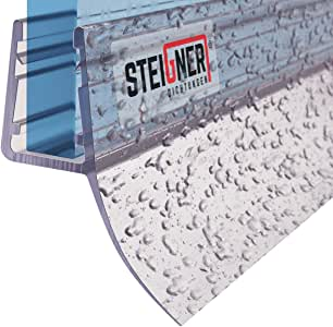 STEIGNER 190 cm Junta Repuesto Para el Vidrio 5mm/6mm/7mm/8mm Junta Vierteaguas de Ducha UK12 Protección Chorros Mamparas Ducha: Amazon.es: Bricolaje y herramientas