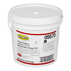 Rich's JW Allen Pre-Whipped Buttrcreme Icing ZTF, Pastel Yellow, 15 lb