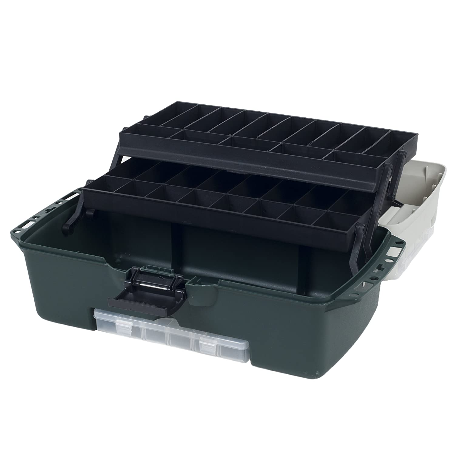 Wakeman Fishing 2-Tray Tackle Box with 3 Removable Organizers 18-Inch