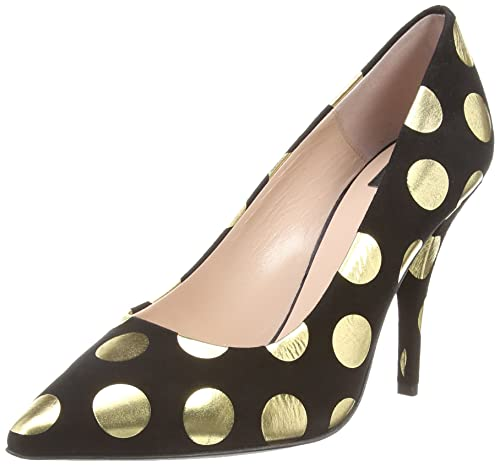 Gold Spot Court, Womens Closed-Toe Pumps Moschino