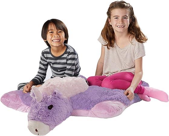 Pillow Pets Jumboz Magical Unicorn 30 Jumbo Folding Plush Pillow Amazon Co Uk Kitchen Home