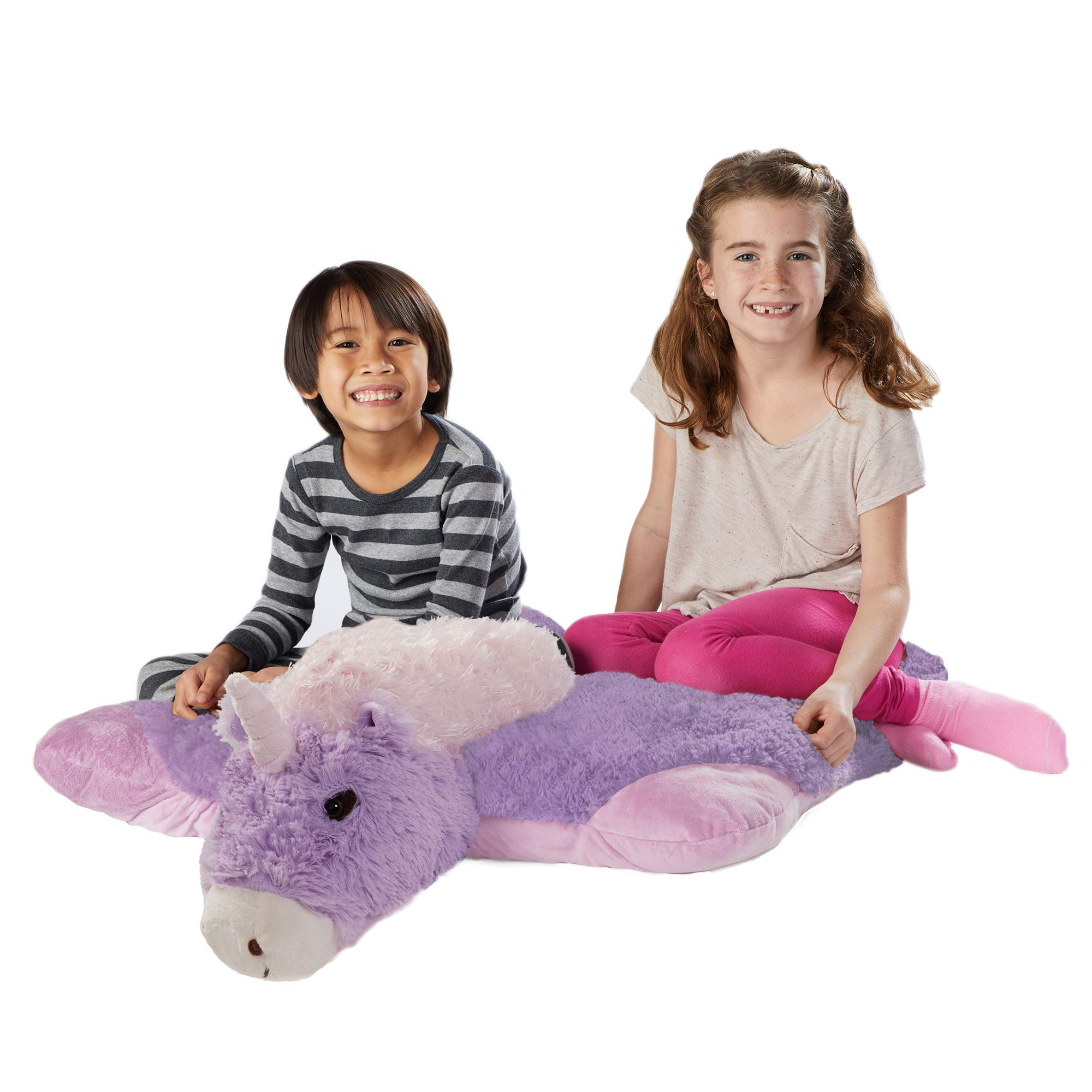 Pillow Pets Jumboz, Magical Unicorn, 30'' Jumbo Folding Plush Pillow