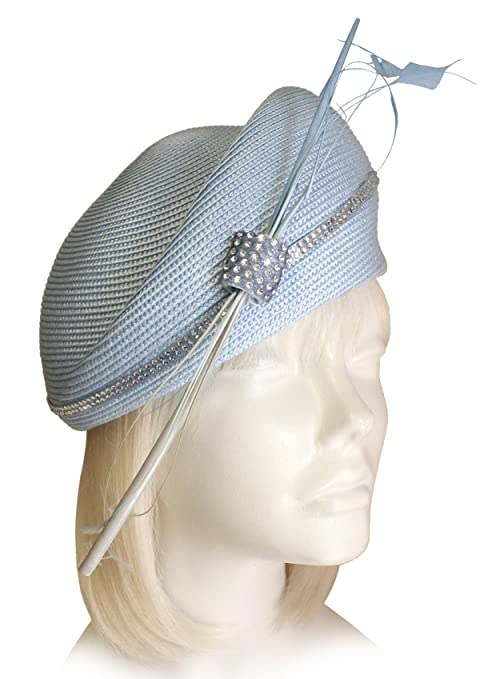 1950s Women's Hat Styles & History Mr. Song Millinery Straw-Tagline Structured Beret Cloche Hat -ST84  AT vintagedancer.com
