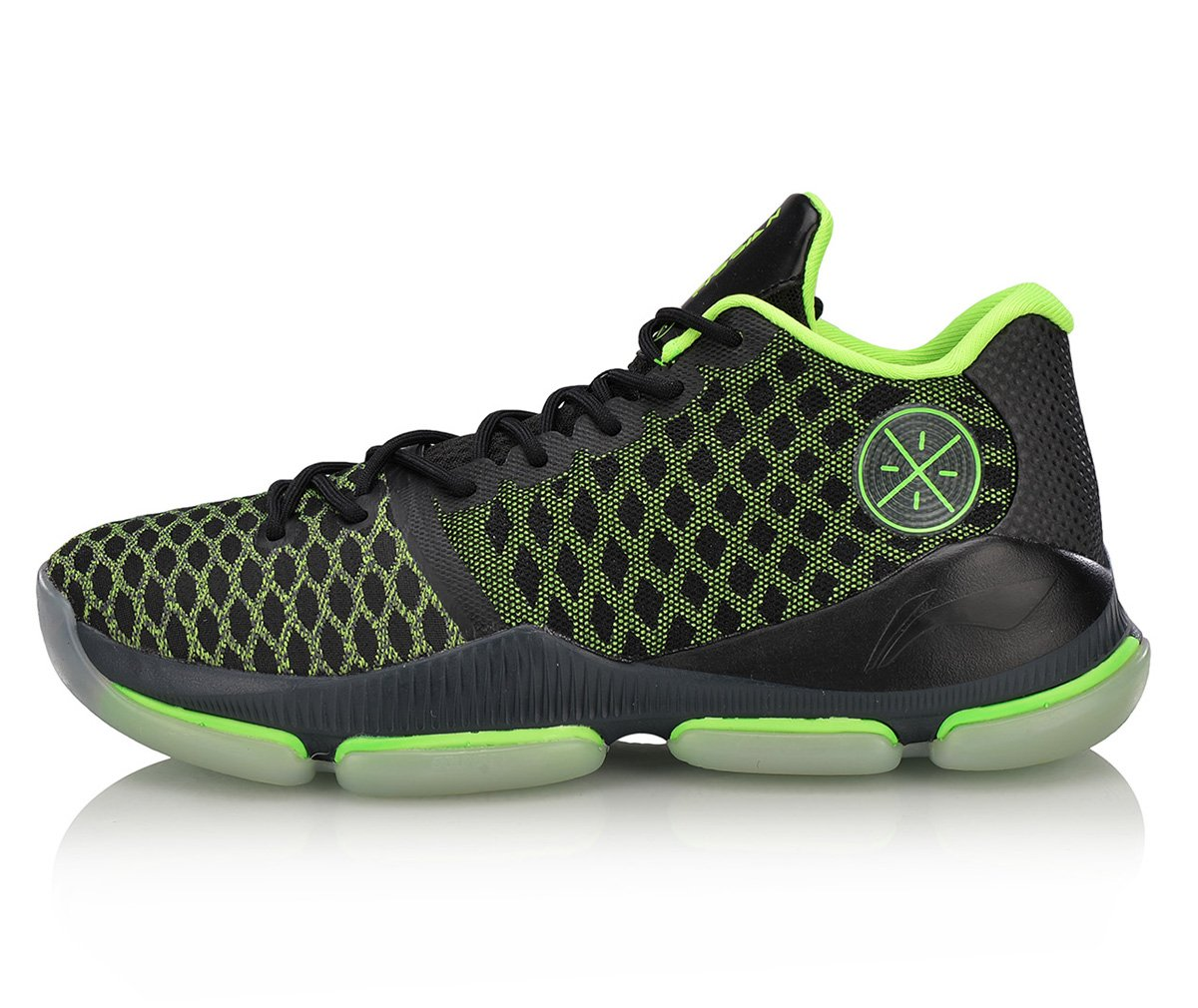 LI-NING Men Wade Fission III Professional Shock Absorption Basketball Shoes Air Wearable Stylish Sports Sneakers ABAN011 B07BV84JJY US 13 Foot Length 12.01 Inch Green