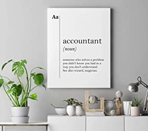 Dwi24isty Canvas Print Accountant Canvas Art Definition Poster Accountant Gift Coworker Gift New Job Gift Accounting Wall Art Office Decor Dictionary Scandinavian
