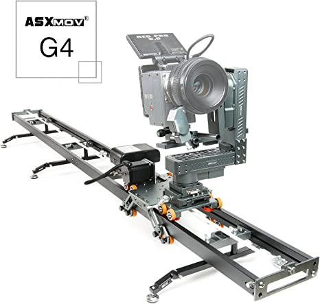 asxmov-g4 200 cm Wired Control motorizado DSLR Cámara Track Dolly ...