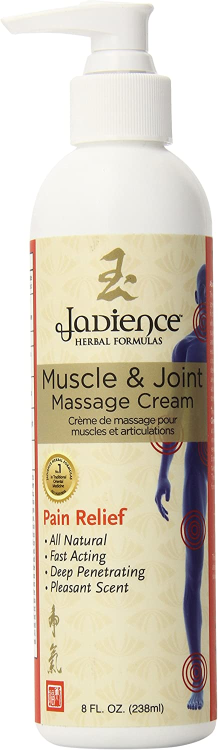 Jadience Muscle & Joint Massage Cream 8 Oz - Analgesic Pain Relief Cream - A Massage Therapy Tool for You & Your Clients - Made In The USA - All Natural Asian Formula