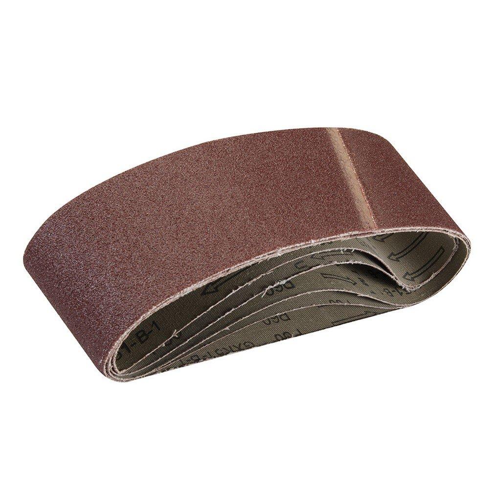 Silverline 308931 5 bandes papier de verre  75 x 533 mm Grain 60