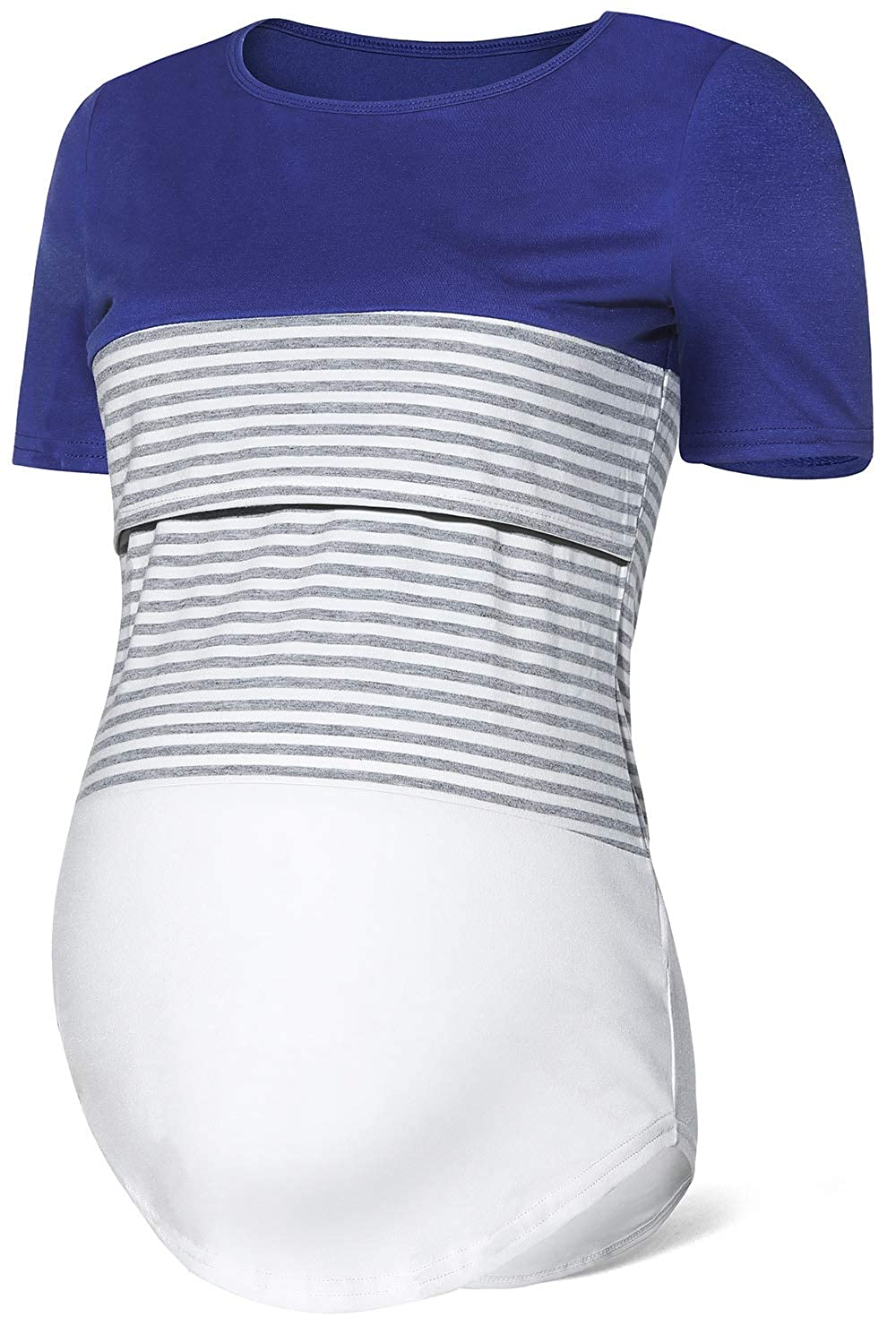SUNNYBUY Womens Long Sleeve Nursing Top Shirt Maternity Breastfeeding Tops Clothes Casual Sweatshirt with Pocket
