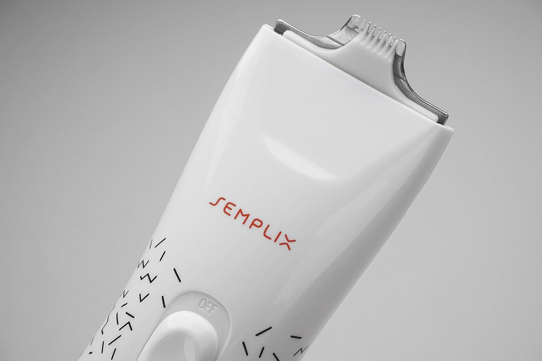 SEMPLIX Stitch Eraser Elektrischer Nahttrenner: weiß Auftrenner Saumtrenner wiederaufladbarer Akku Unpicker Ladegerät Ladegerät Stichentferner