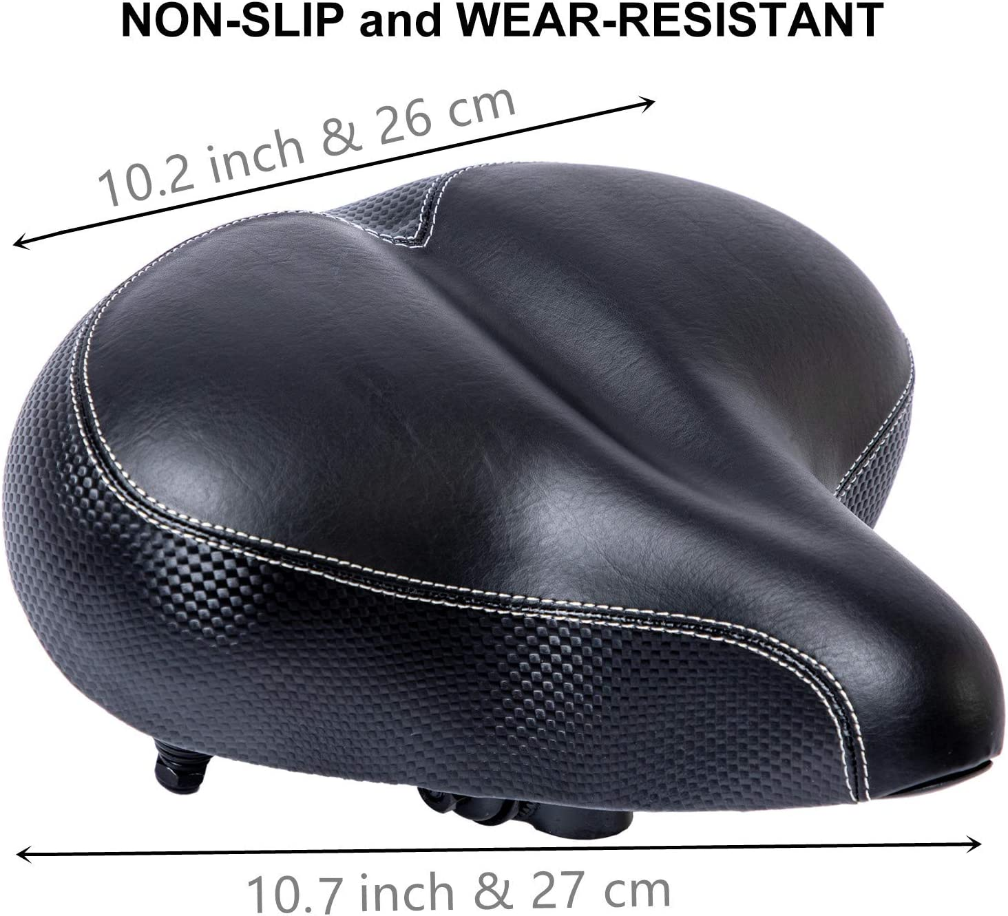 Bicycle Saddle is Thickened High Rebound Foam Padded Widened COZYROOMY Wide Comfortable Bike Seat Soft Breathable Double Spring Design for Most Indoor Outdoor Bike.1 Year Warranty