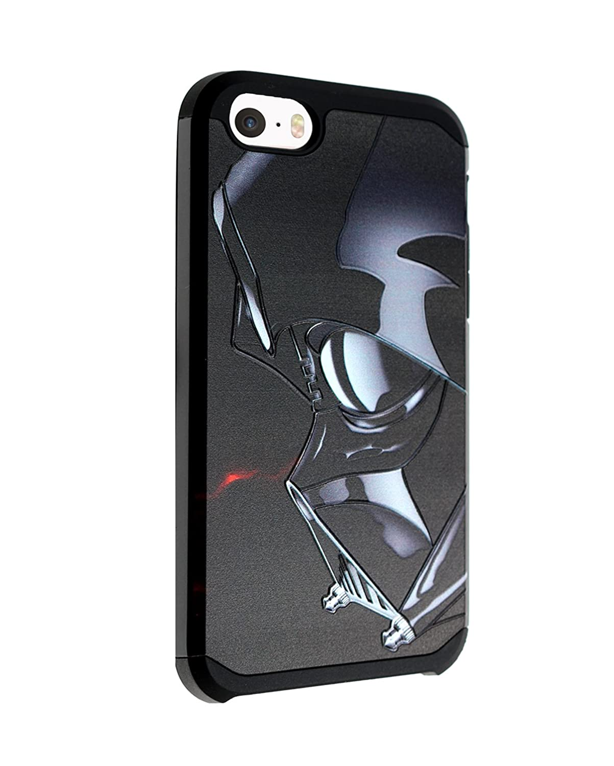 reputable site cc7e4 7b895 iPhone SE Case, DURARMOR iPhone SE Darth Vader Star Wars Dual Layer Hybrid  ShockProof Ultra Slim Fit Armor Air Cushion Defender Protector Cover for ...