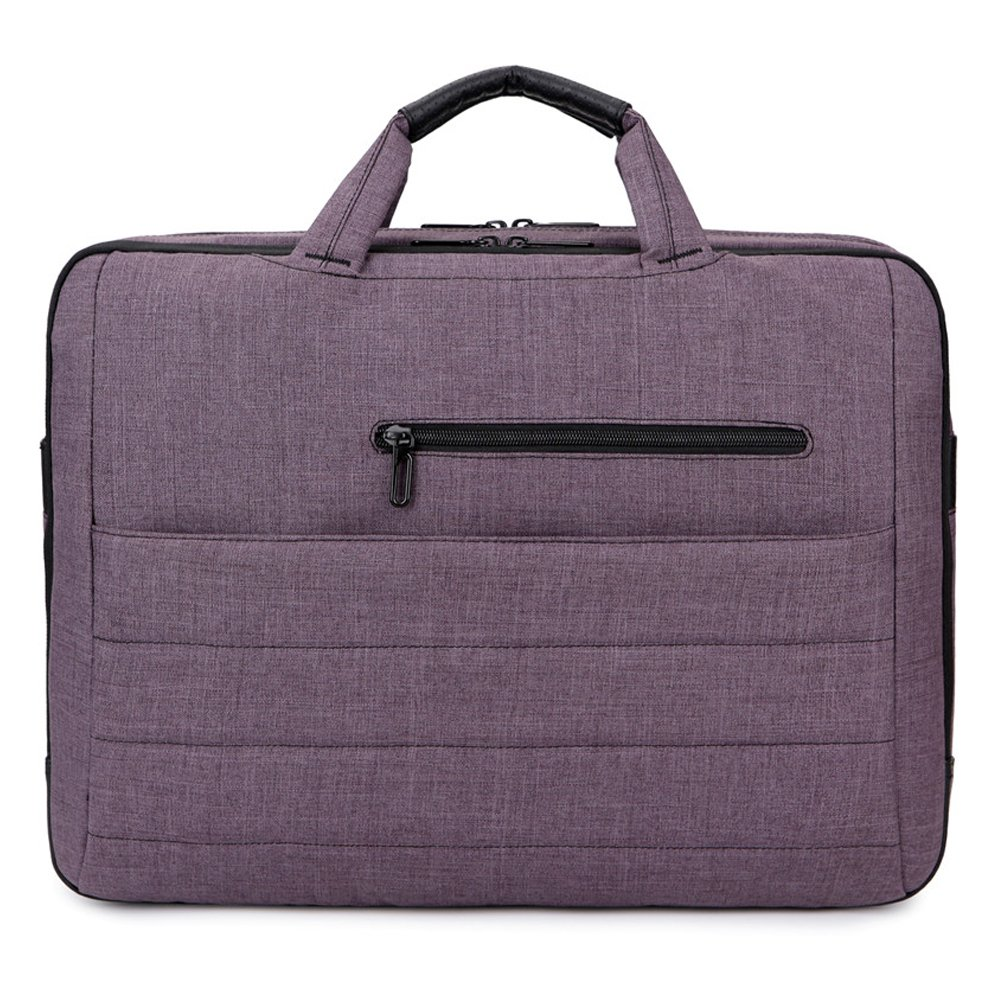 BRINCH 17.3 Inch Nylon Shockproof Carry Laptop Case Messenger Bag For 17-17.3 Inch Laptop/Notebook/MacBook/Ultrabook/Chromebook with Shoulder Strap Handles and Pockets (Dark Purple) by BRINCH (Image #2)