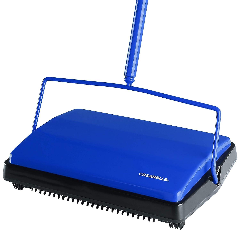 """Casabella Carpet Sweeper 11"""" Electrostatic Floor Cleaner - Blue"""