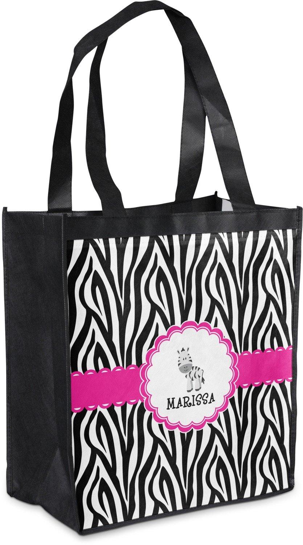 Zebra Grocery Bag ( Personalized ) B0764Y9J1W