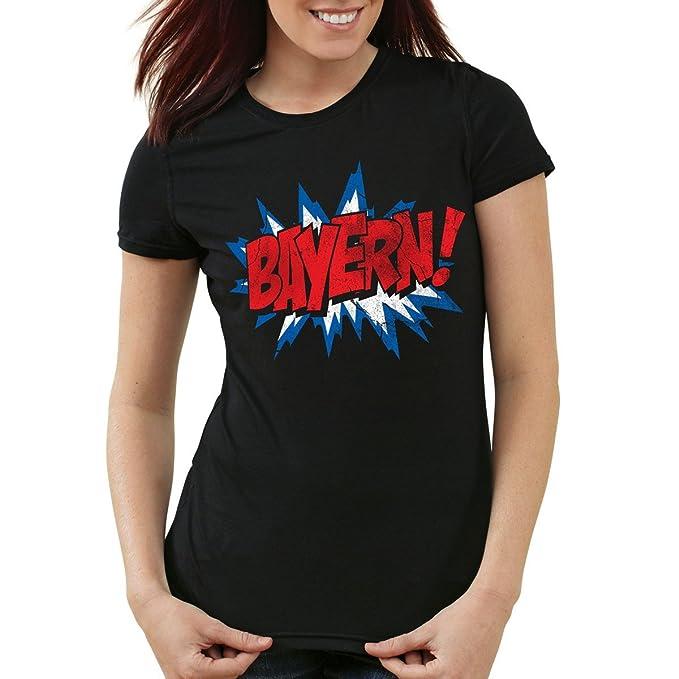 Fan Camiseta para mujer T-Shirt fútbol München Oktoberfest: Amazon.es: Ropa y accesorios