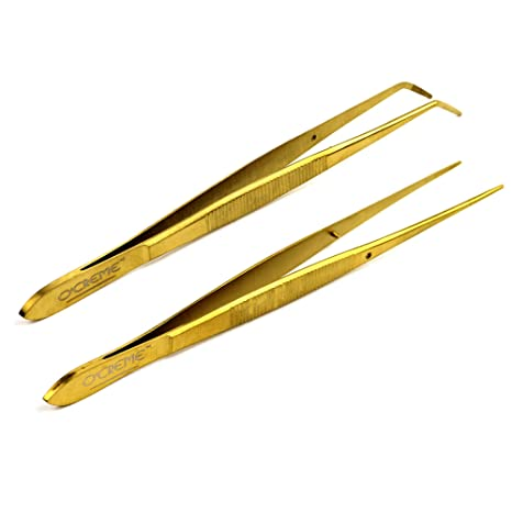 """O/'Creme Stainless Steel Straight Tip Tweezers 12/"""""""