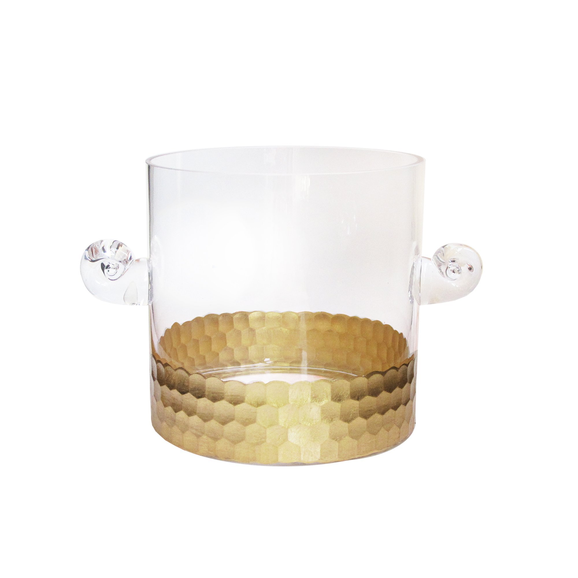 Fitz and Floyd Daphne Glass Ice Bucket, Gold