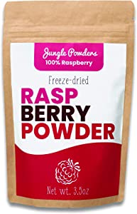 Jungle Powders Raspberry Powder 3.5oz 100% Natural Non GMO Vegan Friendly Pink Freeze Dried Raspberry Powder Red Berry Superfood Concentrate for Smoothies