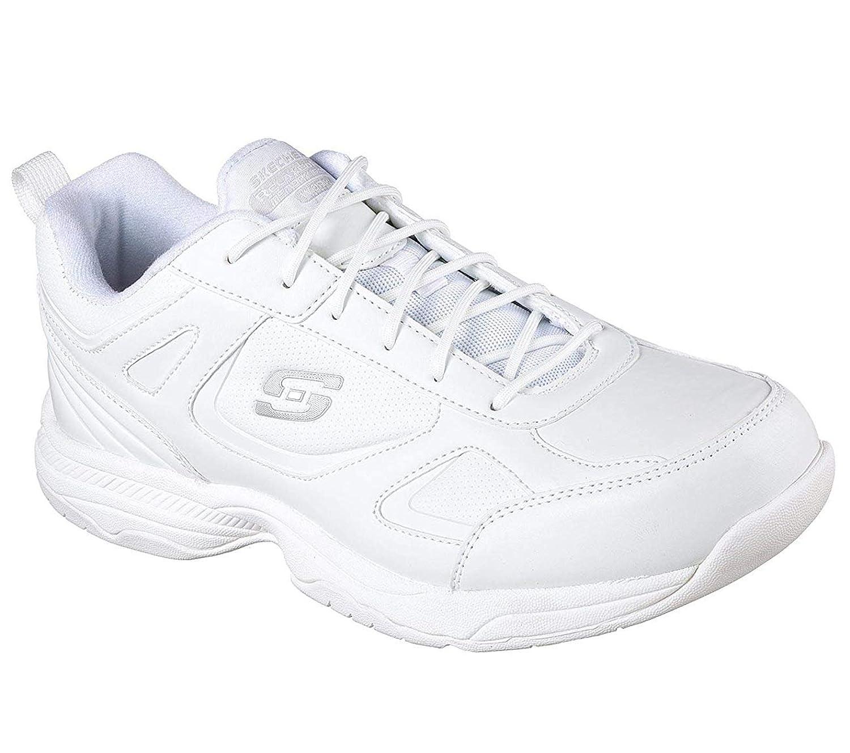 49af218f38f Amazon.com | Skechers for Work Men's Dighton Slip Resistant Work Shoe |  Fashion Sneakers