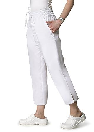 22881d4eee8 Adar Universal Natural-Rise Capri Drawstring Pants - White at Amazon Women's  Clothing store: