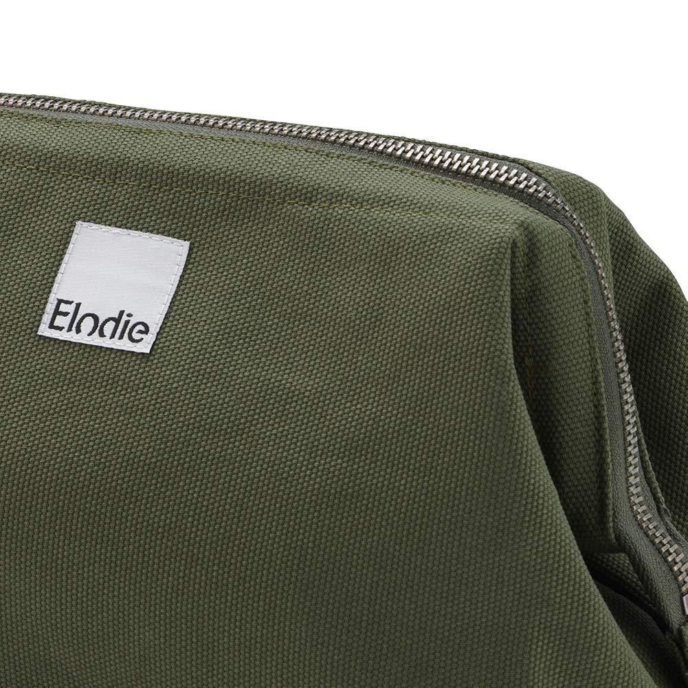 Elodie Details Kulturbeutel//Kosmetiktasche Zip/&Go Vintage Look aus Baumwolle mit Breite /Öffnung Gold Gelb