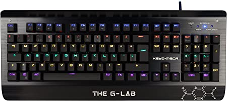 The G-Lab KEYZ-MECA/SP - Teclado Gaming (Layout Español mecánico de Gaming con retroiluminación Switch Azul)