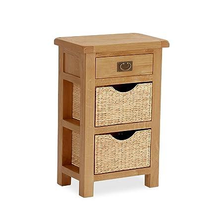 quality design 40f06 55fb4 Salisbury Oak Telephone Table with Baskets / Solid Oak ...