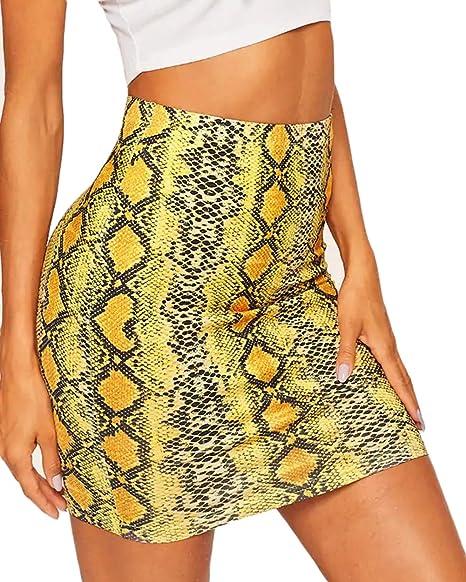 UR MAX BEAUTY Falda con Estampado De Serpiente Sexy para Mujer,5 ...
