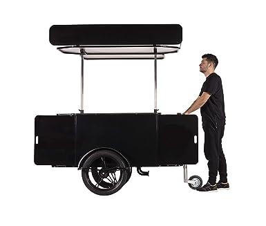 Carrito de ventilación para bicicleta, para comida móvil y bebidas, carrito de bebidas,