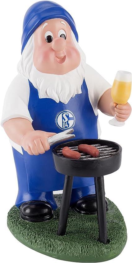 """FC Schalke 04 Gartenzwerg /""""Grill/""""   groß"""