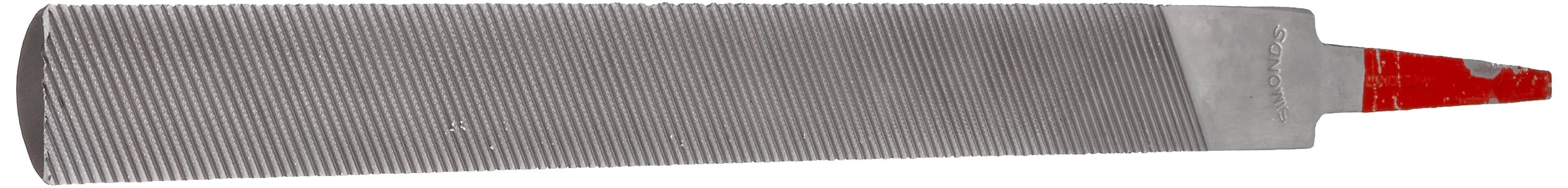 Simonds Hand File for Aluminum, American Pattern, Double Cut, Half-Round, Coarse, 10'' Length, 15/16'' Width, 9/32'' Thickness