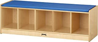 product image for Jonti-Craft 5 Section Bench Locker with Blue Cushion