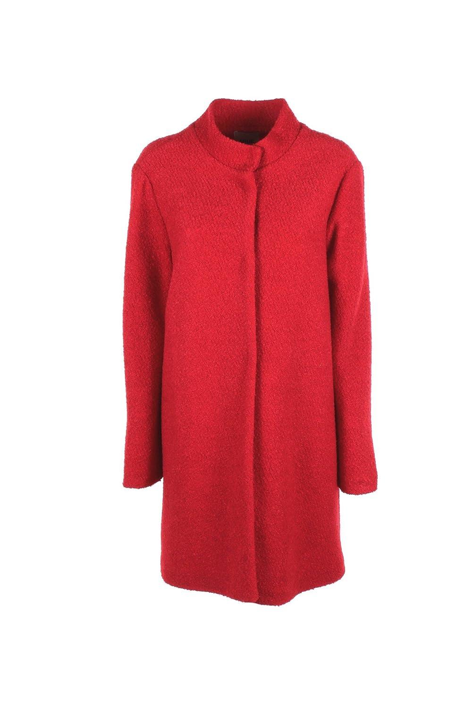 5RUE Cappotto Donna 42 Rosso 25550a17 Autunno Inverno 2017/18