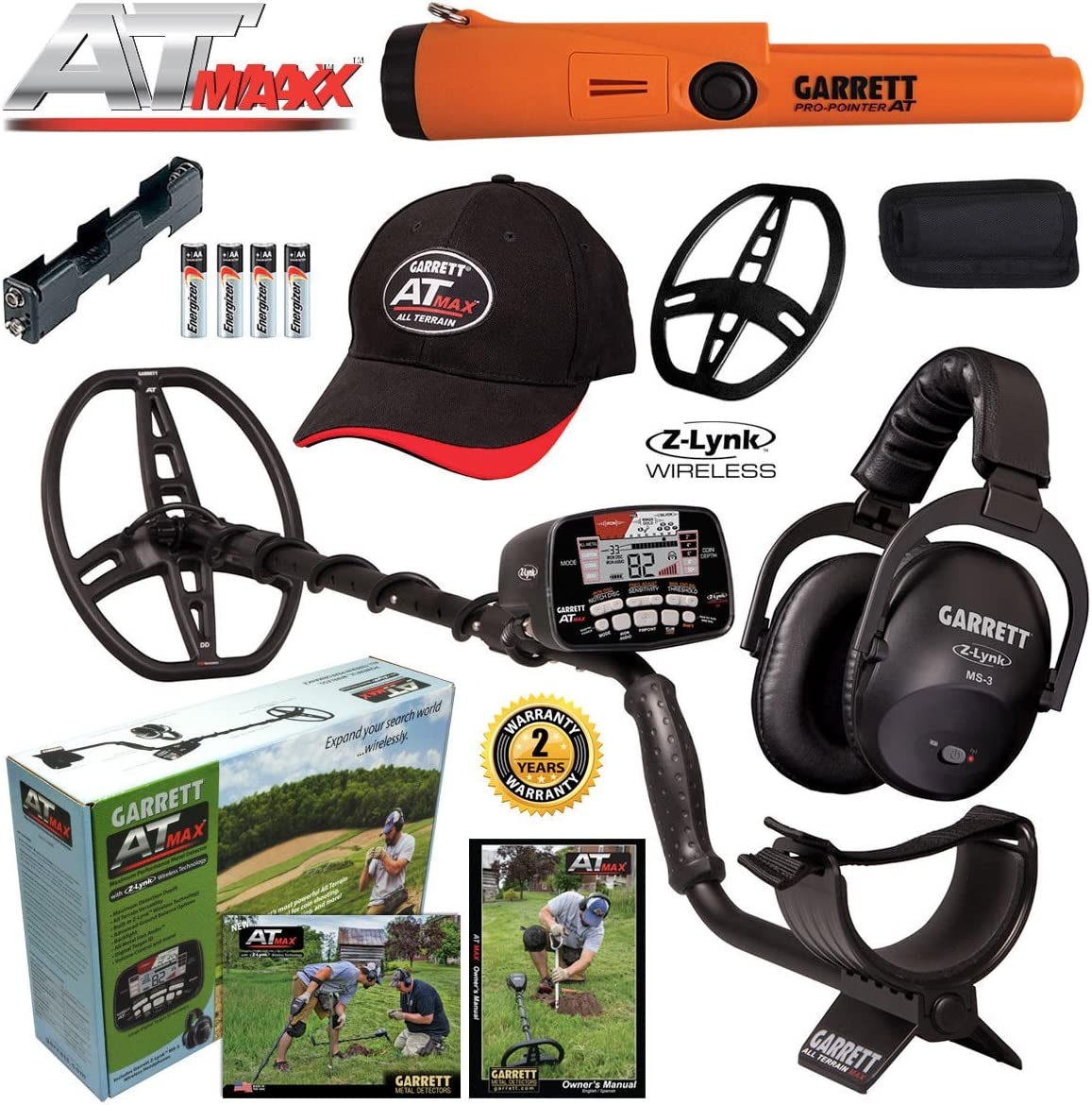 Garrett at MAX Metal Detector, MS-3 Headphones and Pro-Pointer at Pinpointer