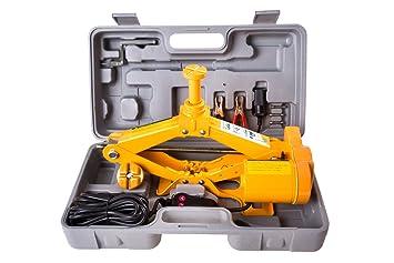 Golem-power gato/Levantador/gato Jack eléctrico Scissor Jack 12 V 12 - 42 cm 2.0T Amarillo: Amazon.es: Electrónica