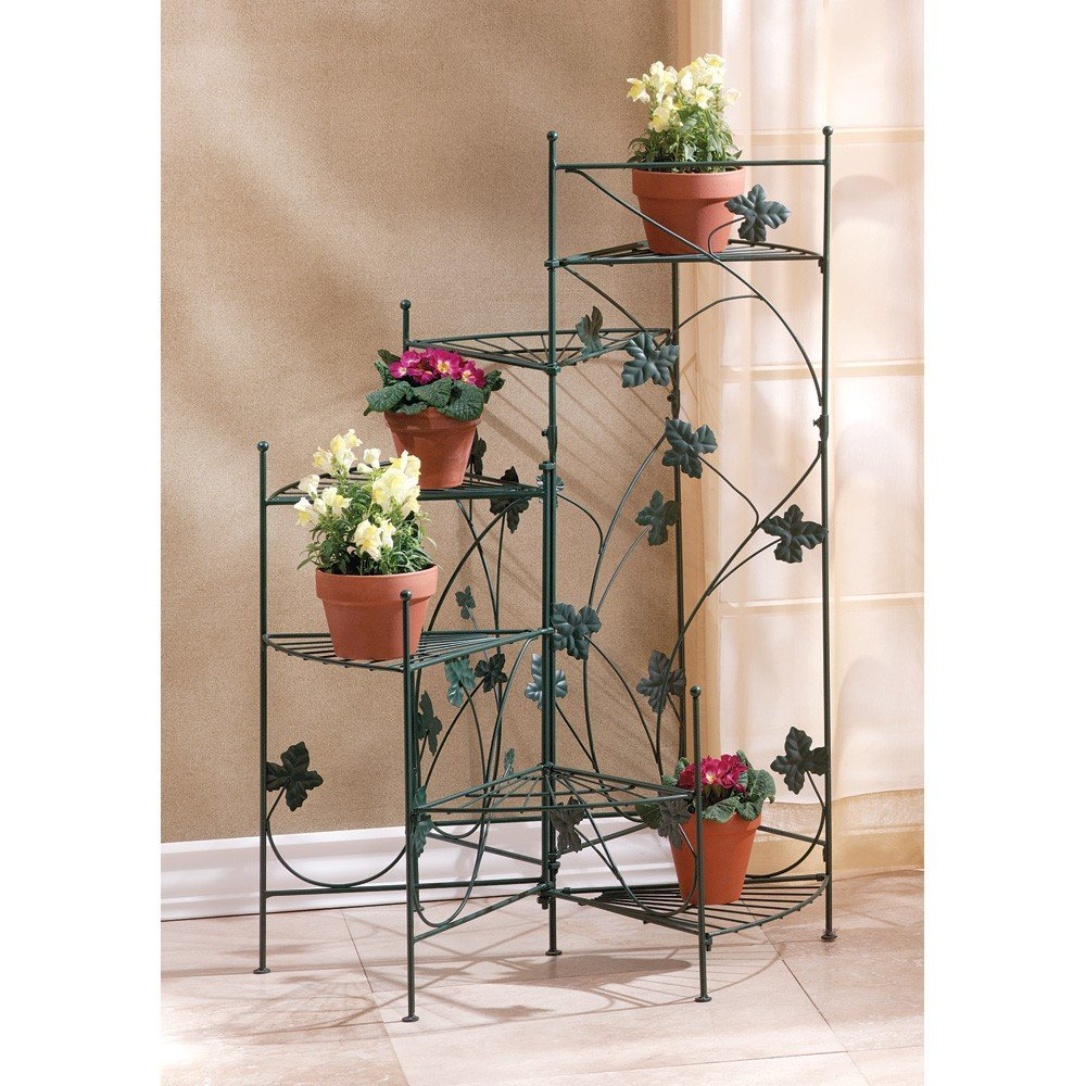Amazon.com: VERDUGO GIFT IVY DESIGN STAIRCASE PLANT STAND: Home U0026 Kitchen