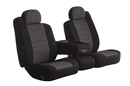 Fia OE39-37 Charc Custom Fit Front Seat Cover Split Seat 40//20//40 Charcoal Tweed,