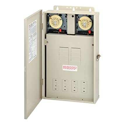 Intermatic T40404R Pool/Spa Control Panel 2xT104M DPST - Electrical on spa heater, low voltage panel, gfci in panel, 50 amp gfci spa panel, wiring a breaker panel, spa disconnect, spa services, 3 phase panel, midwest breaker panel, household breaker panel, connecticut electric spa 50 amp panel, spa plumbing, led lighting panel, spa sub panel, spa bathroom, spa siding, spa control panel, spa pump, spa doors, 1 phase panel,