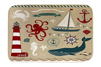 Cama Perro Cocina Buque ballena kraken impreso 40x60 cm