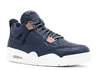 d3c0e6099acf Jordan Men AIR Jordan 4 Retro Pinnacle Premium (Navy Obsidian Obsidian-White
