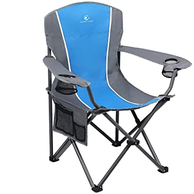 Alpha Camp Oversized Mesh Back Camping Folding Chair Heavy Duty Support 350 Lbs for sale online