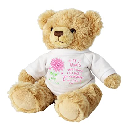 "Si madres eran flores ID Pick You siempre 7 ""oso de peluche regalos para"