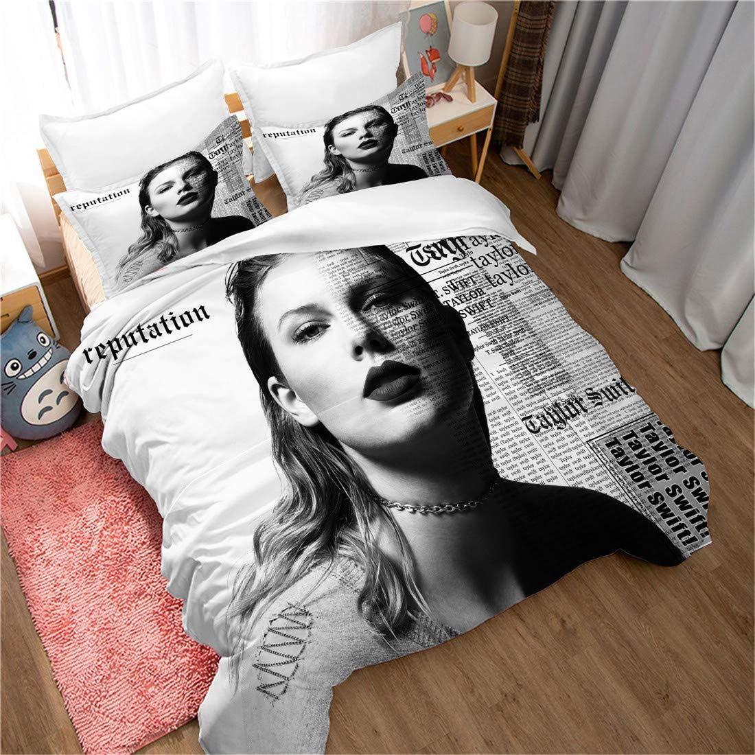 Beddinghome 3d Digital Printed Taylor Swift Duvet Cover Match Pillowcases Boys Girls Fans Bedroom Decor Bed Set 2 Pcs Twin Amazon In Home Kitchen