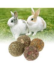 Jiamins 6 Pcs Balle d'herbe Boule Hamster Petits Animaux Jouets Lapin Hamster Accessoire Boule de meulage des Dents (Calendula)