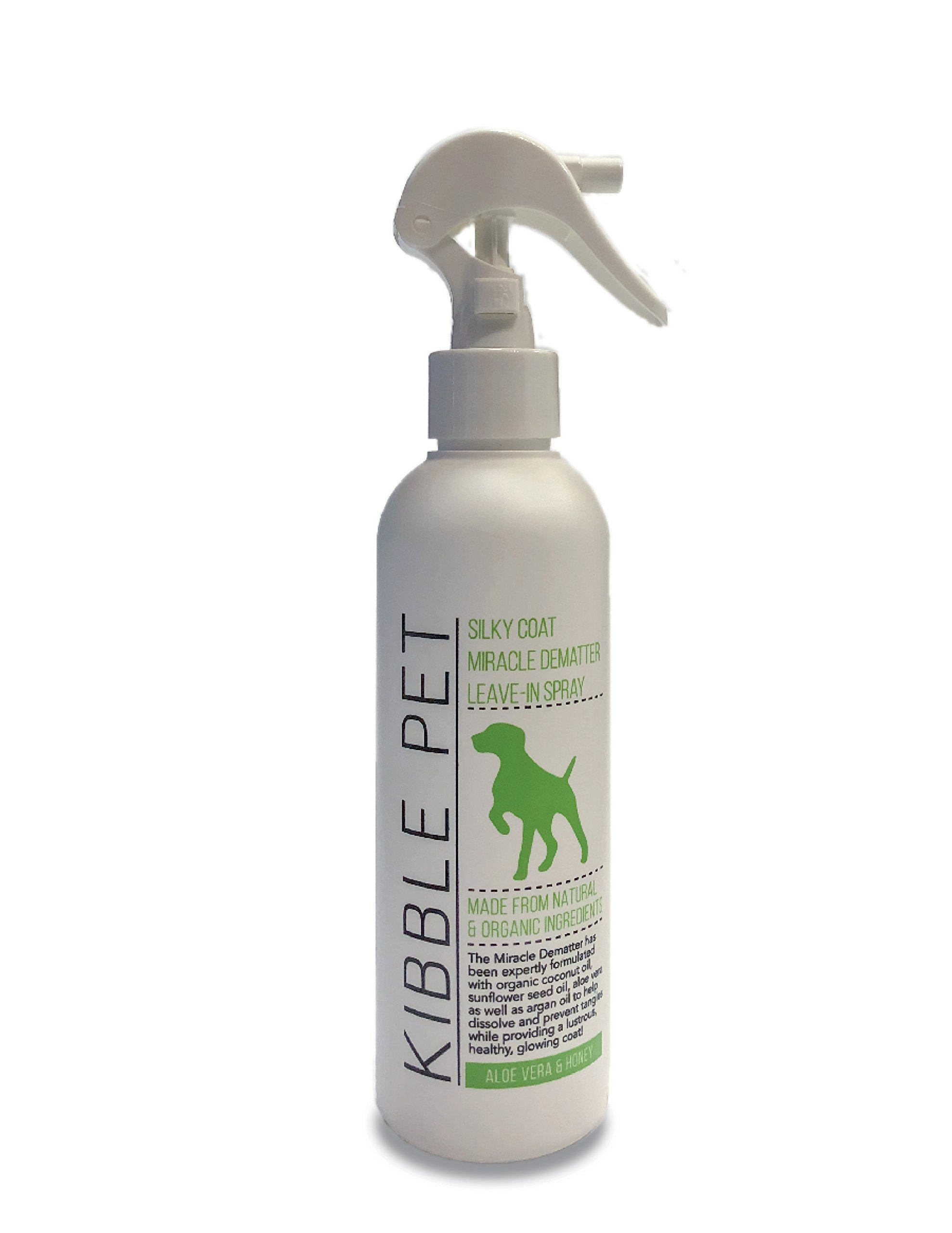 Kibble Pet Silky Coat Miracle Dematter Leave in Spray, Aloe Vera and Honey (7.2 Ounces)