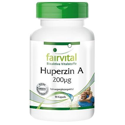 fairvital - 90 cápsulas vegetarianas de huperzina A - Extracto de licopodio puro (200 µg