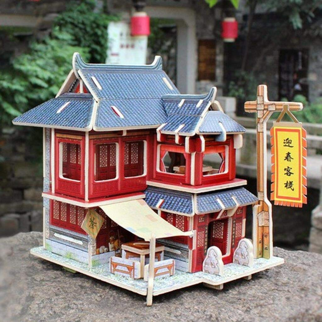 Furniture for Dolls CHINESE PAGODA Dollhouse Miniature Scale 1:12 Model Kit Set