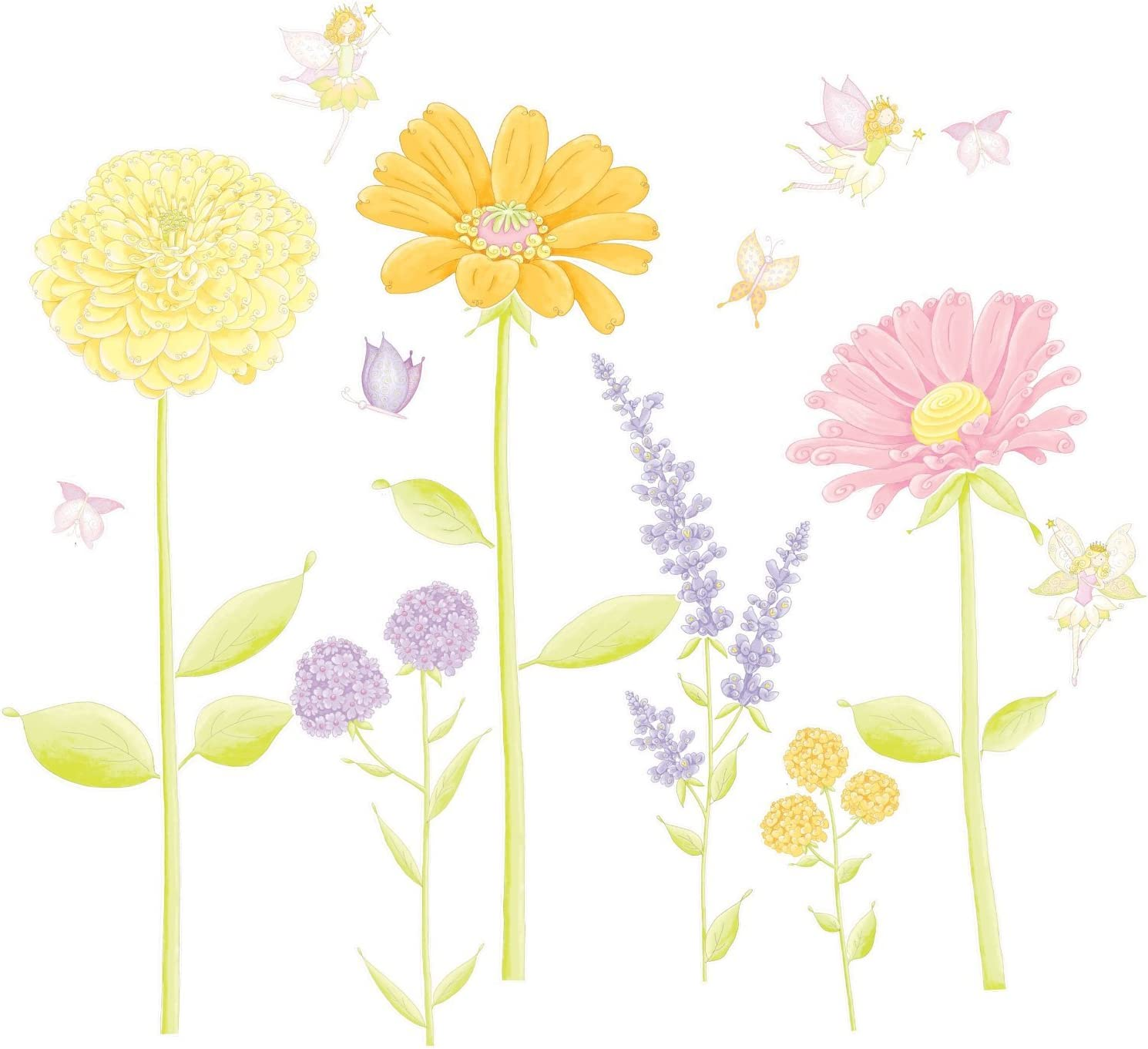 Giant Flower and Fairy Garden wall sticker
